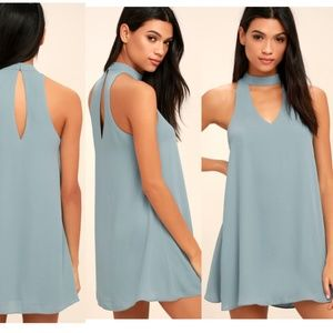 NWOT Slate Chocker Blue Swing Dress Small